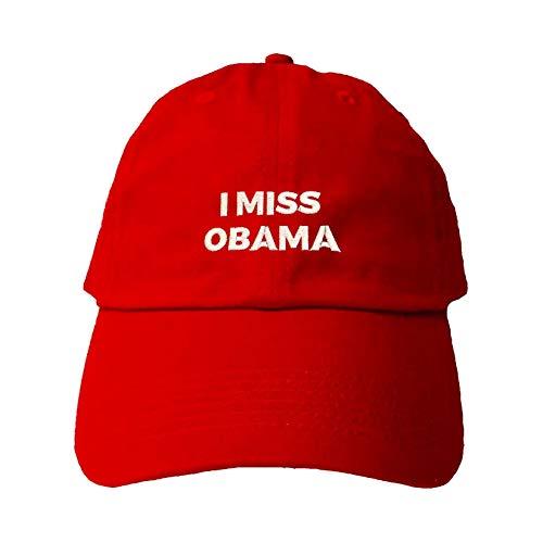 Adjustable Red Adult I Miss Obama Embroidered Dad Hat
