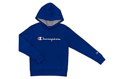 Champion Kids Clothes Sweatshirts Youth Heritage Fleece Pull On Hoody Sweatshirt with Hood (Large, Heritage Surf The Web)