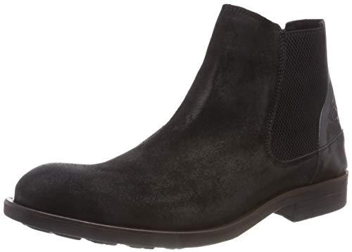 camel active Herren Check 13 Chelsea Boots, Schwarz (Black 4), 43 EU