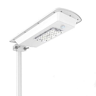 Bestqool Outdoor Solar Street Light Dusk to Dawn (Light Sensor Included), 1500LM 10W 6000k Led Security Light for Street,Garden,Yard,Driveway