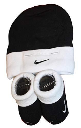 Nike Baby Boys Girls Set Cap Booties Hat Schwarz Weiß