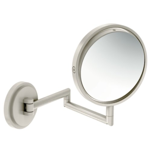 Moen YB0892BN Arris Dual-Sided Extendable Magnifying Mirror, Brushed Nickel