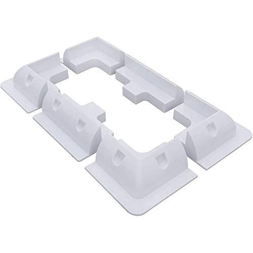 ECO-WORTHY Supports de montage de panneau solaire en ABS blanc avec support latéral.