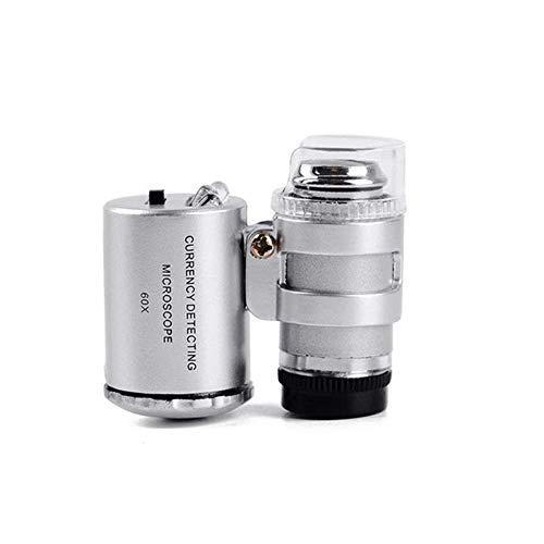 GPWDSN Microscopio digital, microscopio electrónico, microscopio digital con luz LED de mano para leer joyas lupa