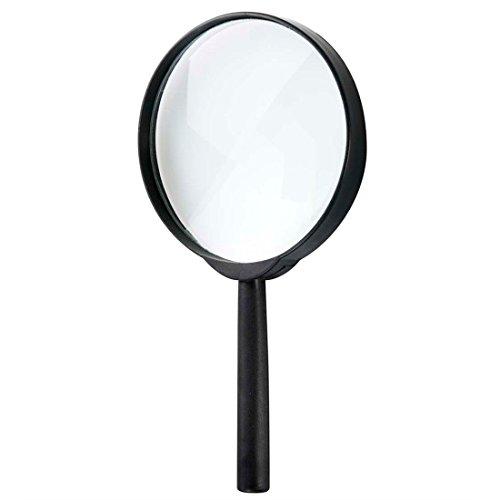 Amakando Detektiv Lupe Vergrößerungsglas 20 cm Forscher Leselupe Streber Handlupe Rentner Lesehilfe Agenten Accessoire