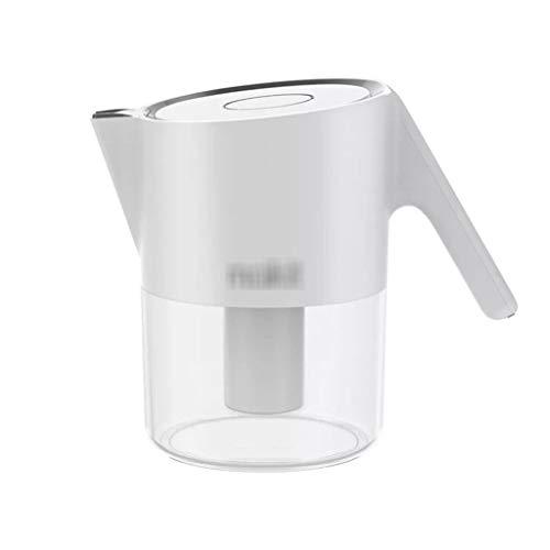 Filtro de agua alcalino Everyday Home Jarra de agua de 1,6 L con filtros de carbón activado, portátil, con filtros, hervidor de agua A
