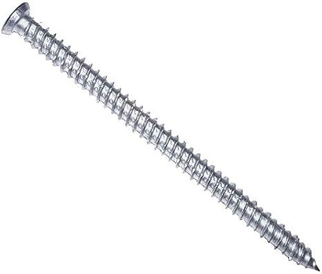 silber, PARCO 604TOP75X52 Fensterrahmenschrauben 7,5 x 52 mm Torx TX30 100 St/ück Senkkopf