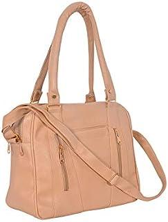 DOWET Casual 3-Compartment Shoulder Bag with Sling Belt Women & Girl's Handbag