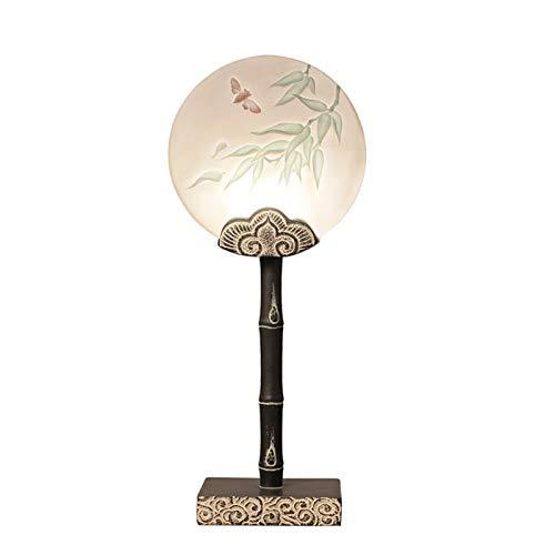 XINKONG Lámpara Lámpara de Mesa de Dormitorio Creativa Retro lámpara de Noche lámparas de decoración del hogar Moderno Minimalista lámpara de Mesa (Color : Black)