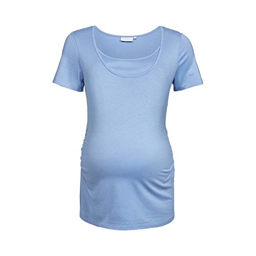 2HEARTS T-Shirt de Grossesse et d'allaitement T-Shirt de Grossesse T-Shirt de Grossesse, Forever Blue