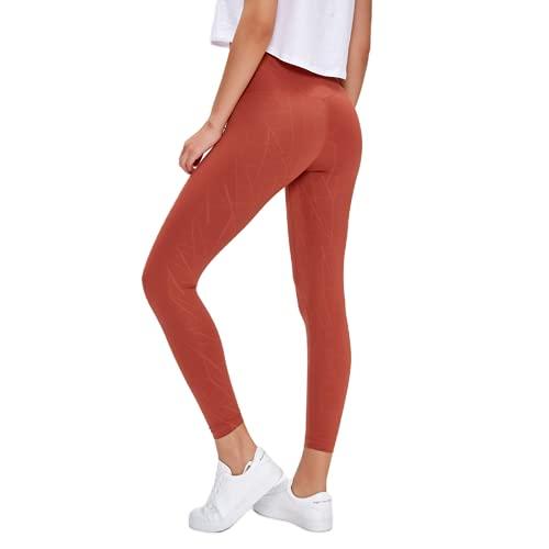 QTJY Pantalones de Yoga de Cintura Alta para Mujer Pantalones Deportivos Deportivos Pantalones de chándal de Entrenamiento para Celulitis y Flexiones de Cadera Delgados E L