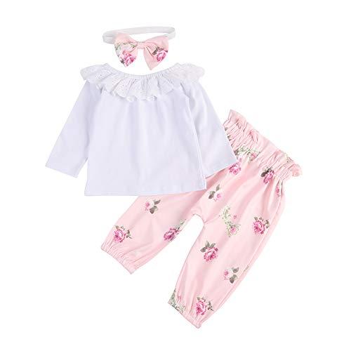 BOBORA Baby Girl Clothes, Infant Girls 3PCs Clothing Set Sleeveless Cotton...