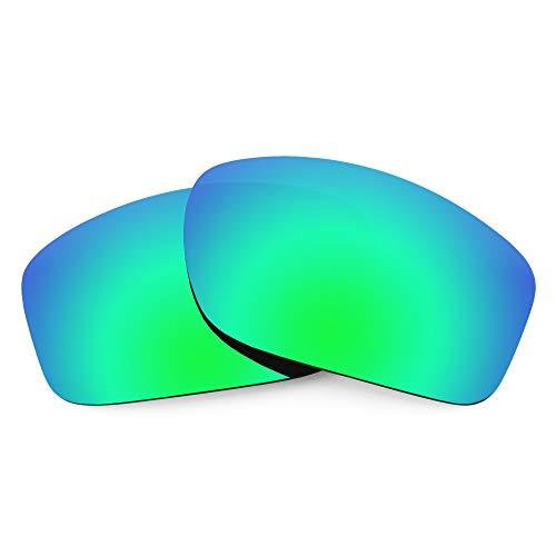 Oakley Valve用Revant交換レンズ、偏光、エメラルドグリーンミラーシールド