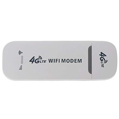 Wobekuy Adattatore di Rete Modem USB 4G LTE con Scheda SIM WiFi Hotspot Router 4G per Win XP Vista 7 10 10.4