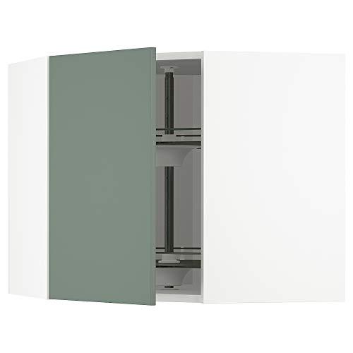 METOD armario esquinero con carrusel 67,5x67,5x60 cm blanco/Bodarp gris-verde