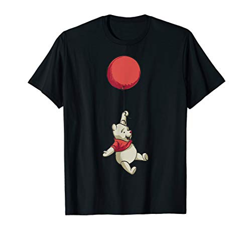 Disney Winnie The Pooh Floating Red Balloon T-Shirt