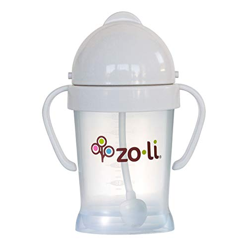ZoLi BOT Weighted Straw Sippy Cup   Ash Grey, 6 oz, BPA Free, Baby's First Straw Cup – Baby Shower Gift