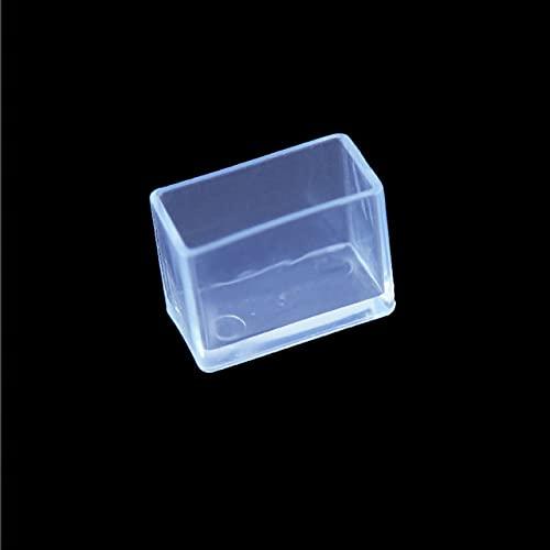 16 fundas cuadradas transparentes para patas de mesa, fundas de protección para patas de silla, protectores de suelo para decoración del hogar, rectángulo, 30 x 50 mm