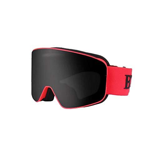 Generieke Skibril, spiegelende kinder-skibril, cilindrisch, tweelaags, beslaat niet, kinderskibril, sneeuwbril, windbeschermbril