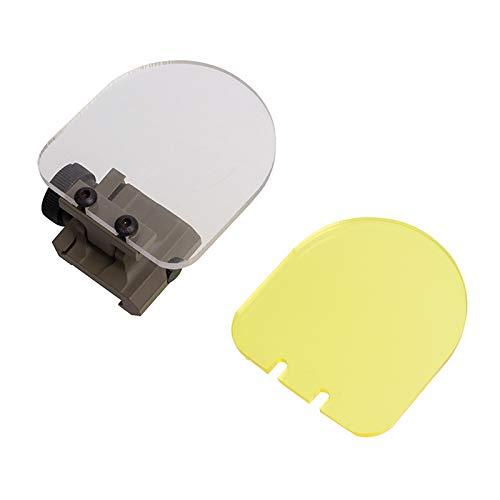 FOCUHUNTER Schermo Protettivo Tattico - Mirino Pieghevole Airsoft Protector Mirini Red DOT Sight Tactical Scope Lens per tiro a Caccia (Tan)