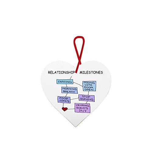 MVPKK La Caja De Regalo Colgante del Día De San Valentín, El Colgante De Botella De Vino De Madera En Forma De Corazón De Regalo del Día De San Valentín
