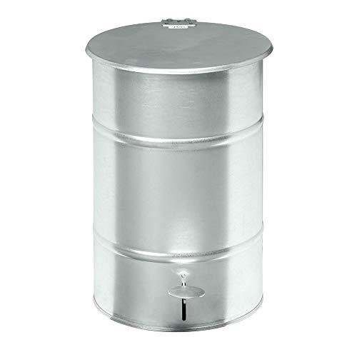 Mülltonne Abfallbehälter mit Fußpedal, 30 Liter - verzinkt