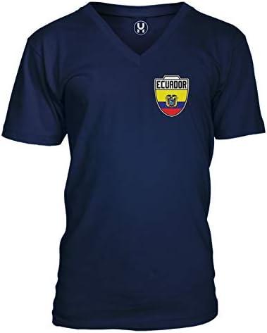 Haase Unlimited Ecuador Futbol Jersey Ecuadorian Soccer Unisex V Neck T Shirt Navy Medium product image