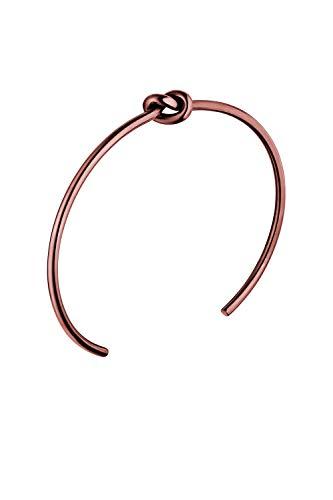 Faye - Knot Bracelet Coffee Armreif Damen - Aus hochwertigem Edelstahl