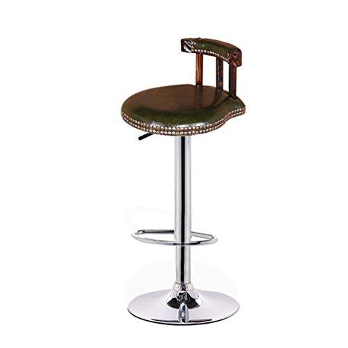 Decoratieve stool retro hoge kruk, barkruk ronde kruk met kruk omhoog te klappen stoel vaste houten rugleuning stoel draaibare creatieve restaurant smelstoel bar-stoelen 60-80 cm