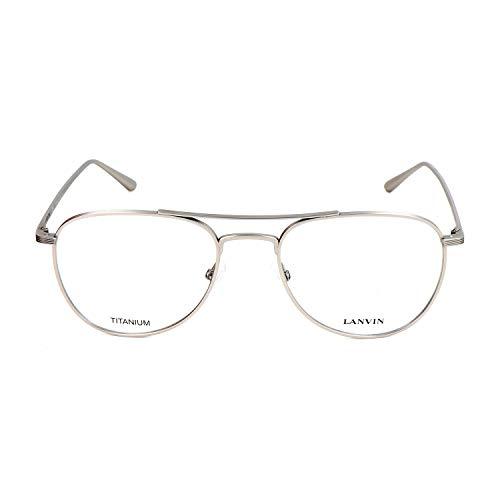 Unbekannt Lanvin Unisex-Erwachsene VLN094M-0581 Sonnenbrille, Matt Plateado, 53/19/145