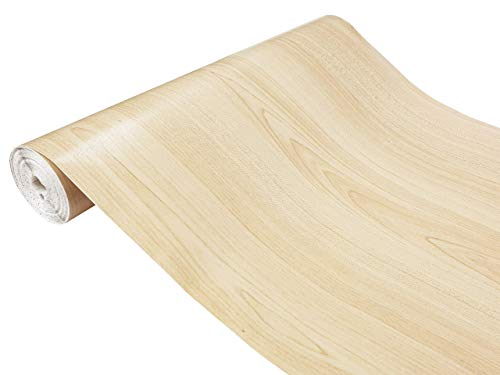 DecoMeister Klebefolien in Holz-Optik Holzfolien Deko-Folien Holzdekor Selbstklebefolie Möbelfolie Selbstklebend Ahorn 45x240 cm