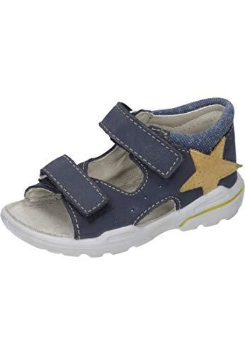 RICOSTA 32.22100 Sandales pour bébé garçon - Argenté - bleu, 20 EU