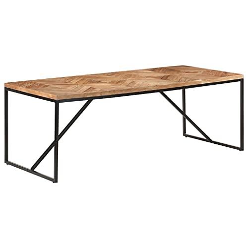 SKM Tavolo da Pranzo 200x90x76 cm Legno Massello di Acacia e Mango (44,6kg)