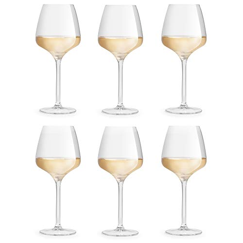 Libbey Wijnglas Servan - 42 cl / 420 ml - 6 stuks - chique rond design - elegant - hoge kwaliteit – vaatwasserbestendig