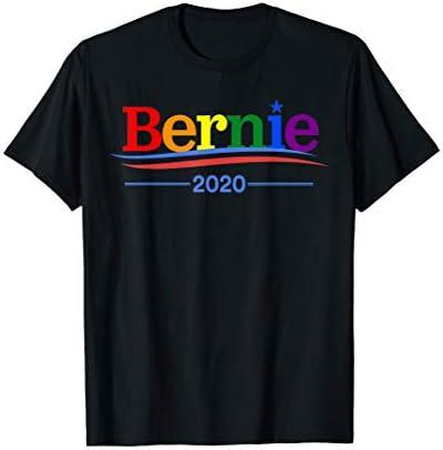 Rainbow Bernie Sanders 2020 LGBT Gay Supporter T shirt T Shirt product image