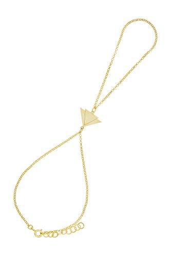 Córdoba Jewels | Pulsera de Dedo en Plata de Ley 925 bañada en Oro con diseño Triangles Infinity...