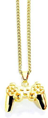 quanjiafu Collar Exquisito Collar De Mango De Consola De Juegos Retro Cool Controlador De Videojuego Electrónico Colgante Juego Geek Joyería Regalo Collar