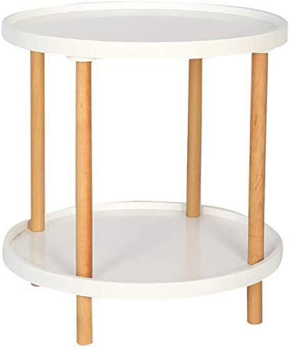 Nest of Tables White Couchtisch Beistelltische Laptop Tisch Lapdesks Massivholz Kaffee 2Tier Side Round Casual Corner Mehrere Beistelltisch mit abnehmbaren Tabletts für alle Workstations, Weiß