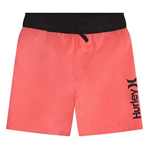 Hurley Boys' Big Classic Pull On Swim Trunks, Lava Glow, Large