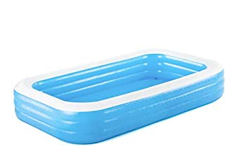 Bestway 54009E H2OGO Rectangular Inflatable Set 10ft x 22in | Above Ground Pool Blue