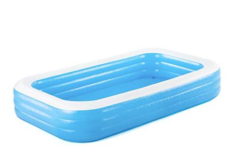 Bestway 54009E H2OGO Rectangular Inflatable Set, 10ft x 22in | Above Ground Pool, Blue