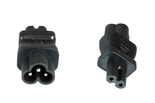DINIC Stromadapter Netzadapter C6 / C7 Euro-8 Stecker, Adapter 3-pin auf 2-pin