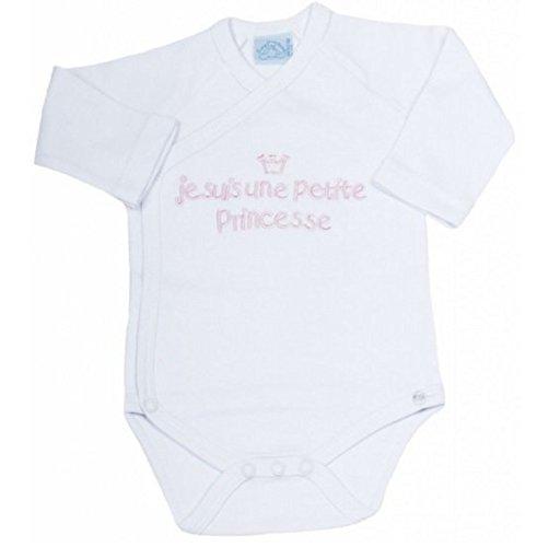 BODY pour la maternité brodé JE SUIS UNE PETITE PRINCESSE Idee cadeau naissance bébé BODY-BCRS NISSANOU