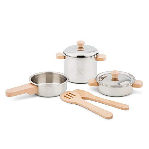 Eitech GmbH New Classic Toys 10640 Metal Pan Set, Metallpfannenset