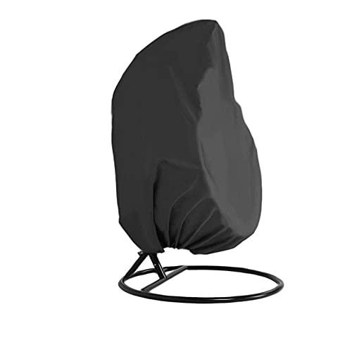 H-BEI Patio Hanging Egg Chair Cover, strapazierfähiges, leichtes, wasserdichtes Egg Swing Chair Cover mit Reißverschluss