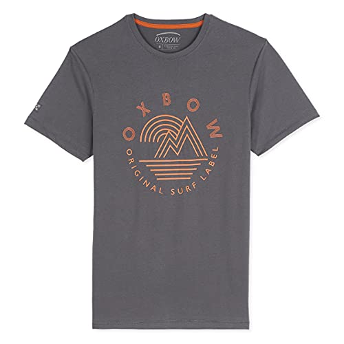 Oxbow N2TOMSK Tee Shirt Manches Courtes Graphique Homme Asphalte