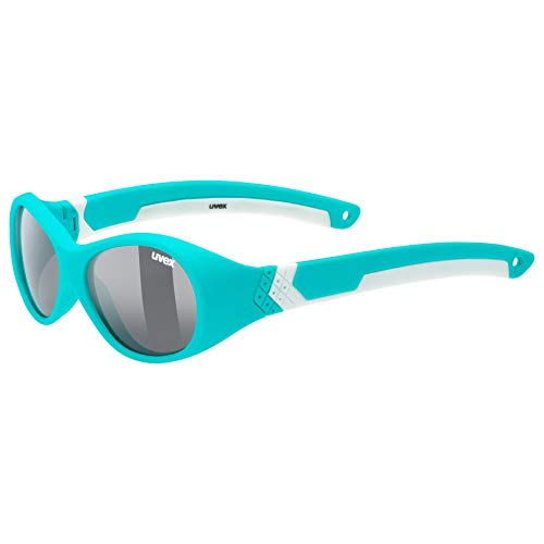 uvex Unisex Jugend, sportstyle 510 Sonnenbrille, turquoise white, one size