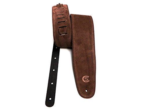 Correa Guitarra Y Bajo de piel sin curtir Custom Style t8su, Marrón o