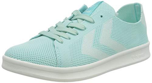 hummel Womens BUSAN Knit Sneaker, Blue Tint,38 EU