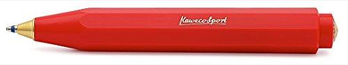 Kaweco Classic Sport Red I Business Kuli aus hochwertigem Kunststoff I 12g leichter Edel Kugelschreiber I Taschen-Kugelschreiber mit zuverlässiger Herzkurvenmechanik I Druckkugelschreiber 10,5cm Rot